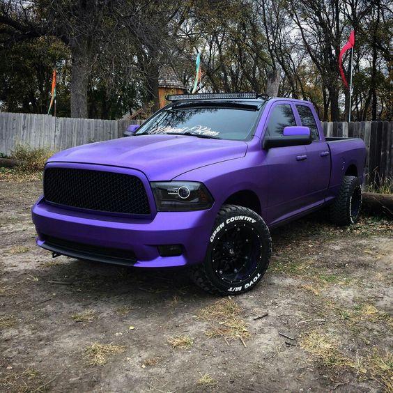 Dodge RAM; Custom Black Honeycomb Grill;  Custom Wheels; Black-Out Headlights; Quad Cab