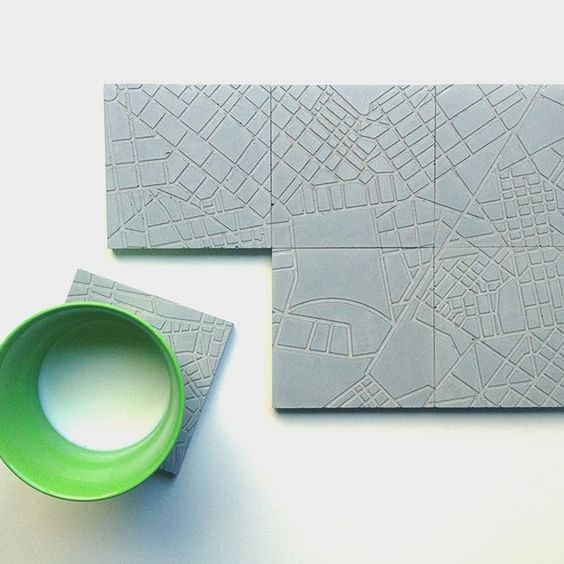 The Concrete Cities Coaster Set by A Future Perfect #Coaster, #Durable, #Futuristic