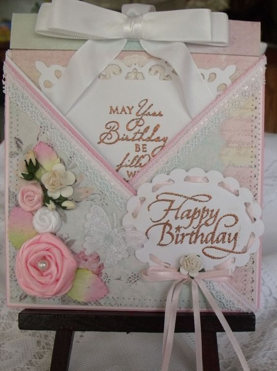 Criss cross b day card cards for Cross in my pocket craft