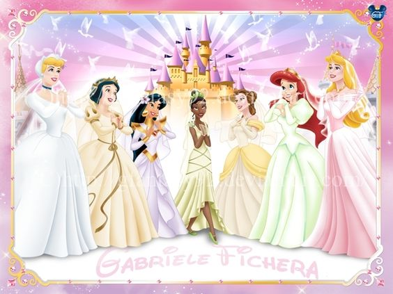 disney princess in their wedding dresses  disney princesses ...