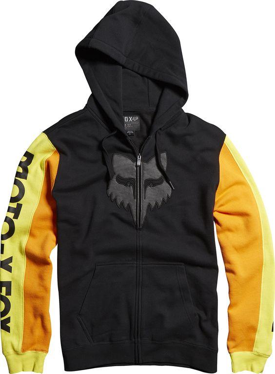 Fleece Sweatshirt Hoody Men MX Motocross Dirt Fox Racing Jetskee Zip Up Hoodie