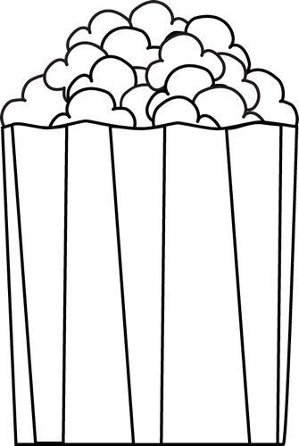 black and white popcorn
