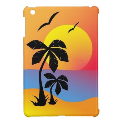 Palm Trees and Sunset - iPad Mini Case