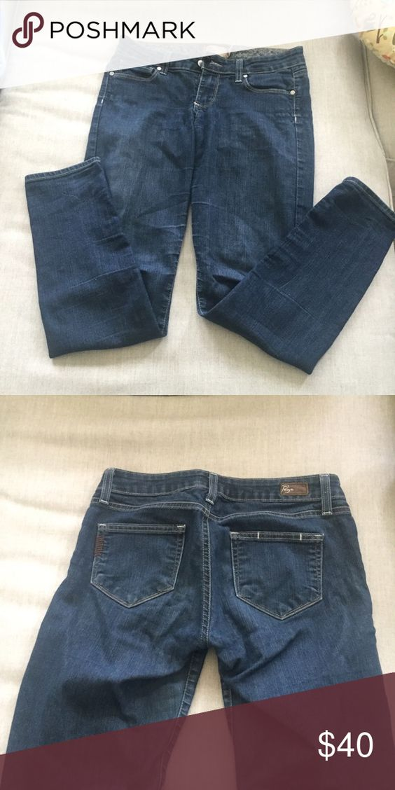 Paige Skinny/Straight Jeans Dark Wash Paige Jeans. Low rise, skinny/straight leg. Excellent condition. Paige Jeans Jeans Skinny