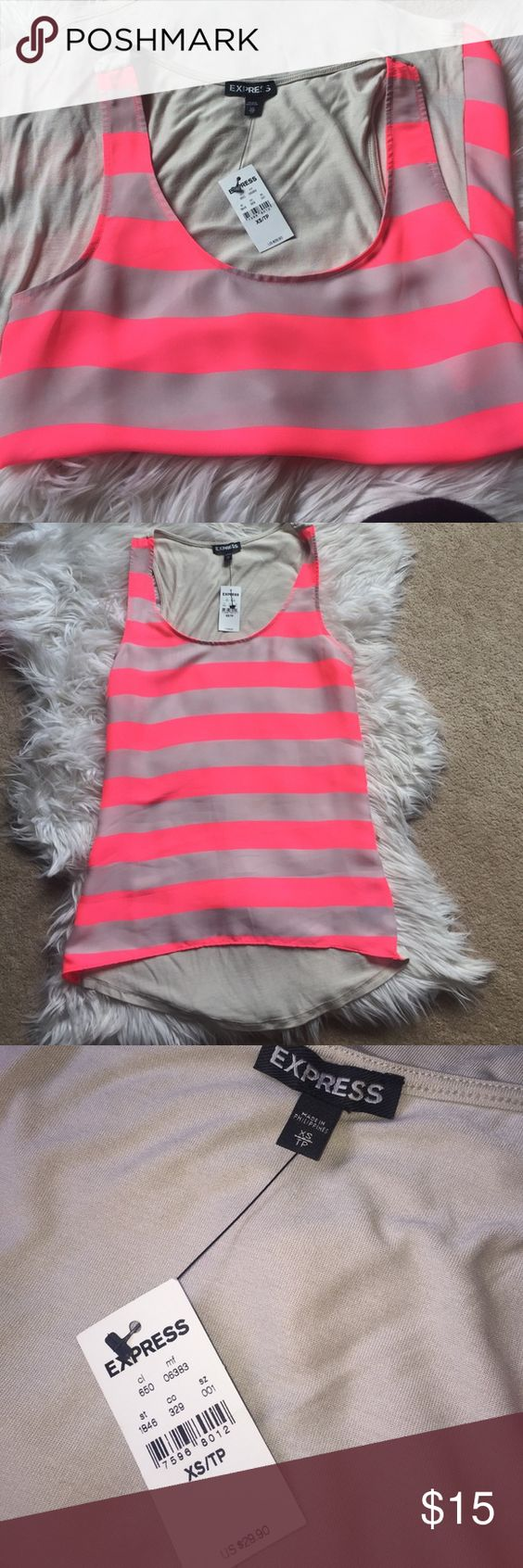 Express Neon/Beige Cami -NWT! 😄 XS - New with tags! Perfect for summer! Express Tops Camisoles
