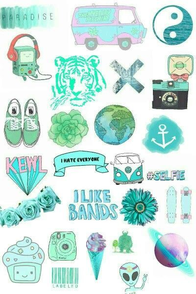 cute green stickers - Google Search   Tumblr stickers in