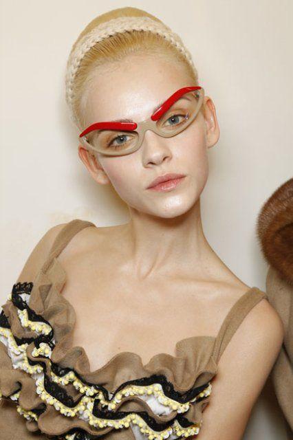 Prada FW10 Eyebrow Glasses