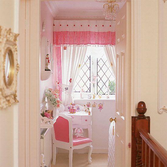 nursery inspiration: pink curtain