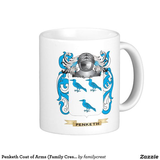 Penketh Coat of Arms (Family Crest) Classic White Coffee Mug
