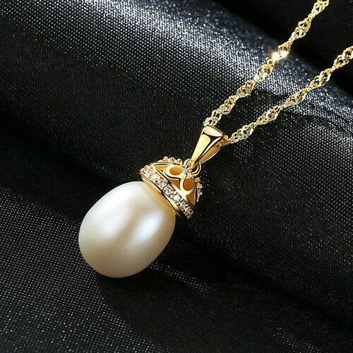 BENIAMINO Kette Anhänger 925er Sterling Silber Süßwasser Perle AAA Halskette OVP