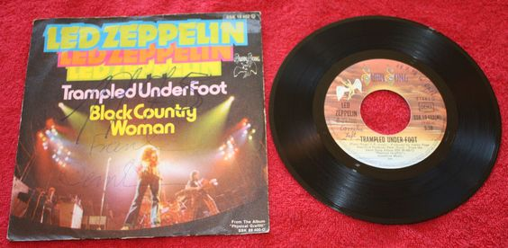 LED ZEPPELIN TRAMPLED UNDER FOOT + BLACK COUNTRY WOMAN 7  VINYL PC