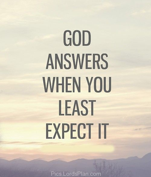God answers in his own ways., If someone is going through ...