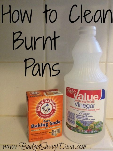 how to clean burnt pan with coke