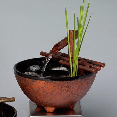 Dakota Fields Ceramic Nature Bowl In 2021 Indoor Fountain Tabletop Fountain Indoor Water Features