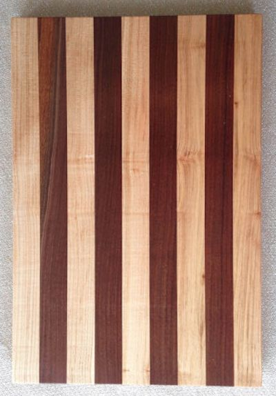 beautiful maple and walnut kitchen cutting board