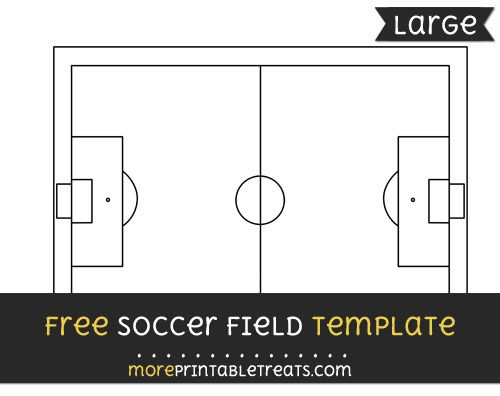 Free Soccer Field Template Large Soccer Field Templates Printable Free Soccer