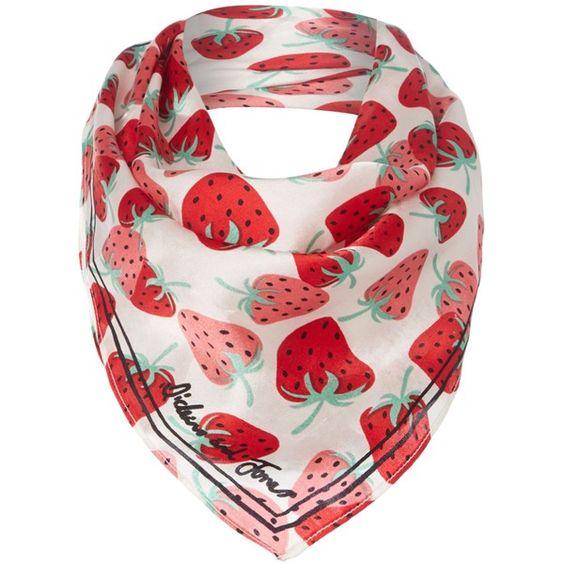 Dickins & Jones Strawberry Silk Scarf