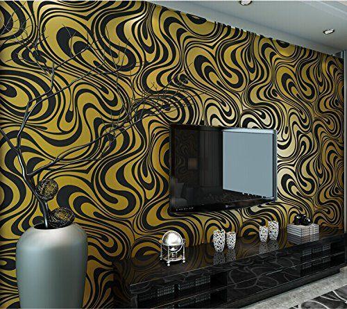 luxury modern luxury curves gold black modern wallpapers 3d murals