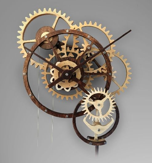 15 Simple & Modern Mechanical Clock Designs With Images | Clock design, Mechanical  clock, Gear wall clock