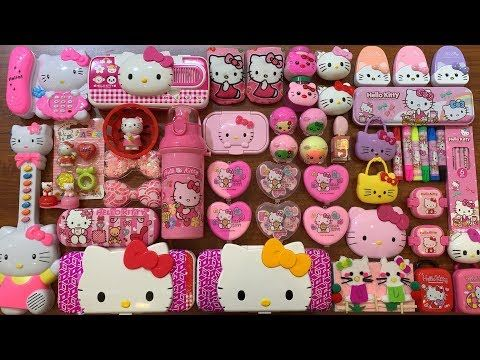 Special Series Pink Hello Kitty Mixing Too Much Beads And Glitter Into Slime Boom Slime Youtube Pink Hello Kitty Hello Kitty Kitty