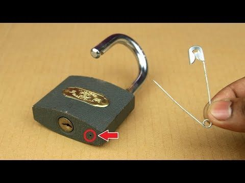 2 Ways To Open A Lock Very Easy Youtube In 2021 Household Hacks Lock Picking Tools Life Hacks Youtube