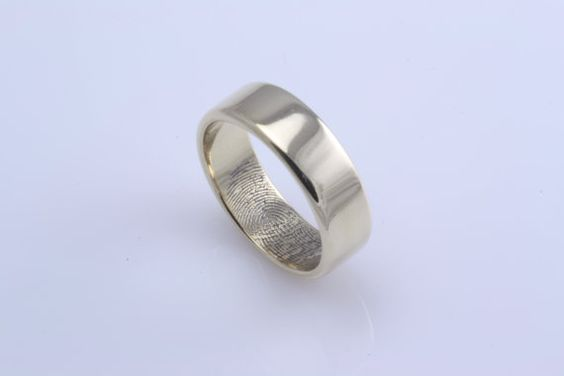Fingerprint wedding bands ... in love!