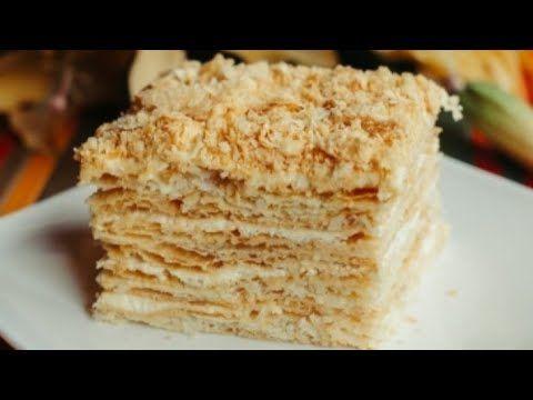 60 Ci Illərin Resepti Ilə əsil Napoleon Tortu Youtube Desserts Rice Krispie Treat Napoleon