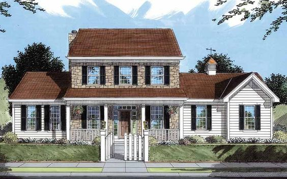 Eplans Farmhouse House Plan - Grand Living in an Economical Package - 2297 Square Feet and 4 Bedrooms from Eplans - House Plan Code HWEPL10463