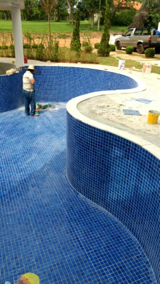 Mosaico piscina  www.mosaicosmonica.com