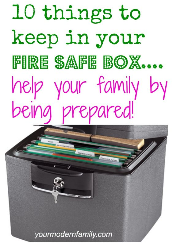 What should I keep in my fire safe box? Being prepared as a family... Top 10 items.