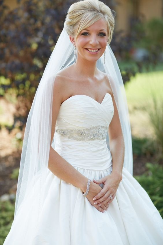 Veils cathedrals ball gown bling silk gowns natural beautiful wedding
