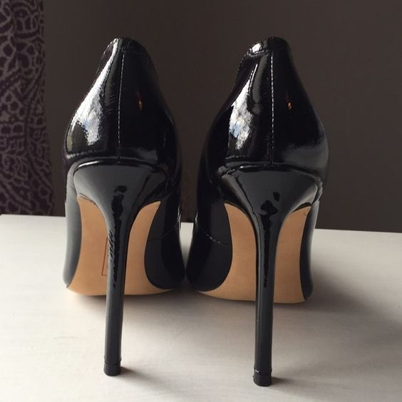 Steven by Steve Madden Black Patent Leather Pumps I've never worn these- only tried them on in my home. They're a beautiful shoe! I've just never needed to wear them so decided someone else should enjoy these. I'm looking to sell these quickly, so willing to negotiate! Steven by Steve Madden Shoes Heels