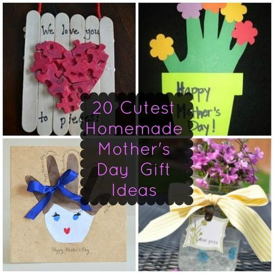 20 of the cutest homemade mother 39 s day gift ideas for Creative mothers day ideas for wife