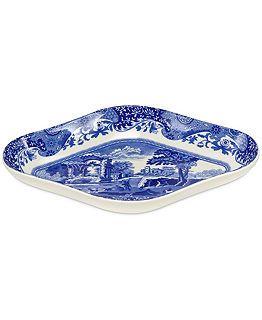 RP: Spode Dinnerware, Blue Italian Pickle Dish