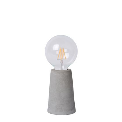 Zijn naam zegt het al, de Lucide Concrete is gemaakt van beton. Concrete is een hedendaagse tafellamp die inspeelt op de trend van strakke lijnen en industriële looks. De voet is een koker gemaakt van – je raadt het al – beton!