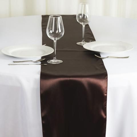 12 X 108 Satin Runner For Table Top Wedding Catering Party Decorations Chocolate Table Runners Gold Table Setting Table Arrangements