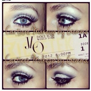 Glitter smokey eye - NYX crystal glitter with MACs 'carbon' in the crease - e.l.f makeup lock to apply glitter to eyelid