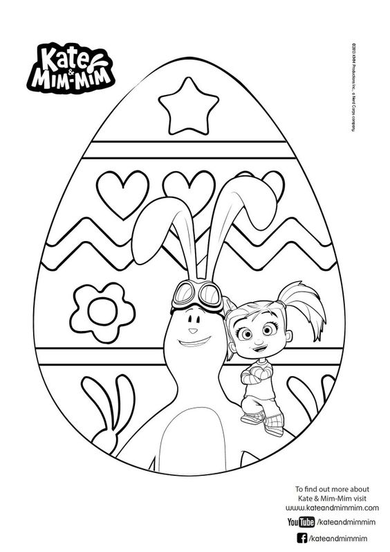 Kate mim mim easter egg colouring easter pinterest for Kate and mim mim coloring pages