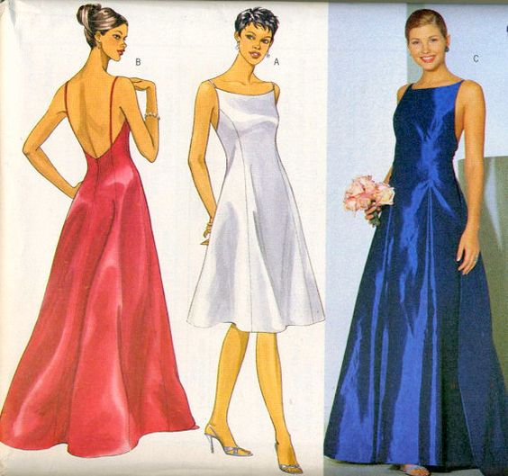 Plus size princess evening dress sewing pattern with for Wedding dress patterns plus size
