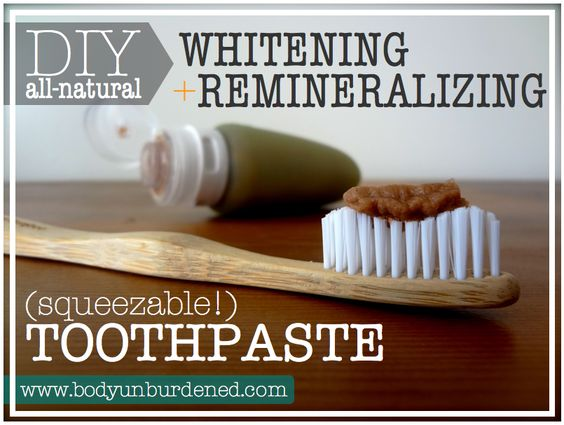 Natural toothpaste, Peppermint and Powder on Pinterest
