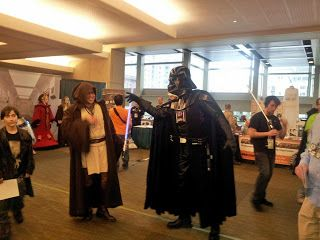 "Darth Vader ""force choking"" a random jedi dude.:"