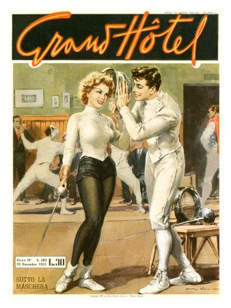 Retro fencers - @Denise H. H. Doro
