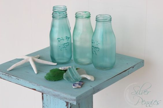 Spring is almost here! The perfect time to make sea glass inspired bottles for all those lovely spring flowers! All you need is bottles, mod podge and food color. From Finding Silver Pennies.