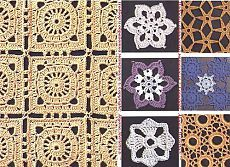 Noções básicas de crochet de confecção de malhas circulares e ... 35 amostras e motivos
