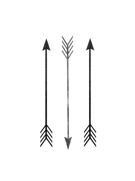 Printable Art, Arrow Print, Arrow Decor, Black And White