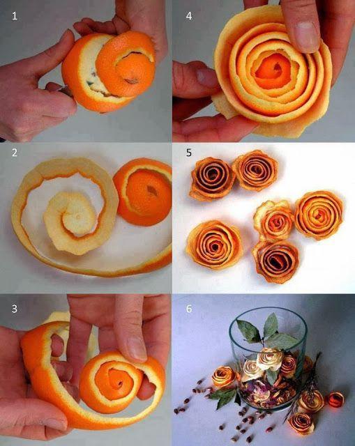 Aus Mandarinen- und Orangenschale könnt ihr ganz einfach Deko und selbstgemachtes Potpourrie machen!