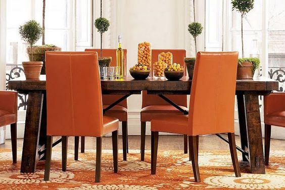 CASA MIDDAS: O laranja na decoração