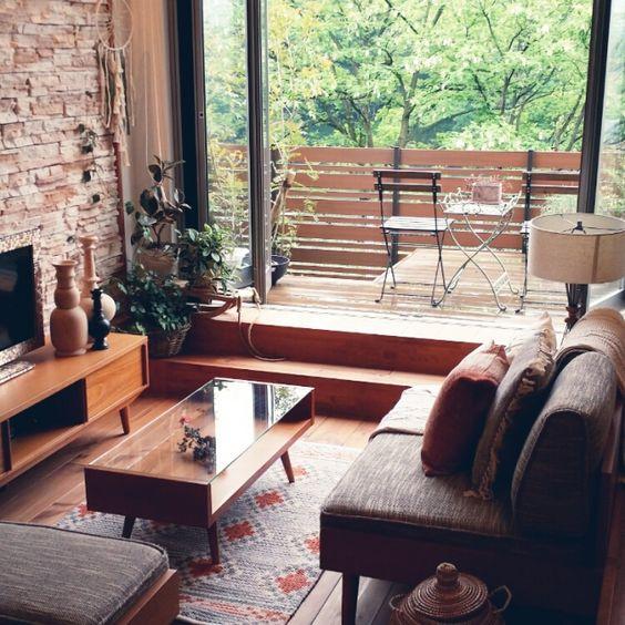 akisakiさんの、リビング,IKEA,ウッドデッキ,unico,ACUTUS,BOHO,こどもと暮らす,GREENのある暮らし,イベント参加中,のお部屋写真