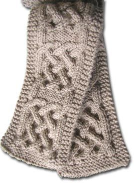 pattern for Celtic knot knitted scarf CELTIC CABLE PATTERNS Browse Patter...