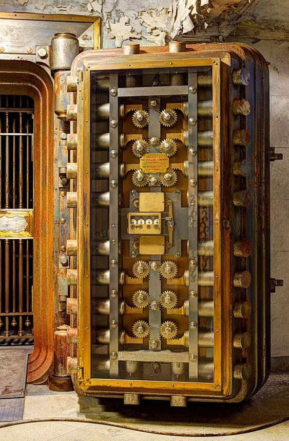This Old Bank Vault Door Is Now Located In The Basement Of